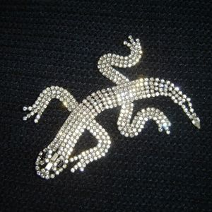 Jewelry - Vintage Rhinestone Alligator Pin